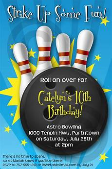 Free Printable Bowling Party Invitations For Kids Bowling Invitation Printable Birthday Party Customizable