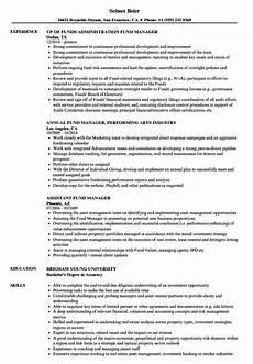 Venture Capital Resume Sample Fund Manager Resume Samples Velvet Jobs