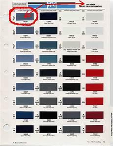 Honda Civic Color Code Chart 88 91 Factory Color Chart Page 8 Honda Tech