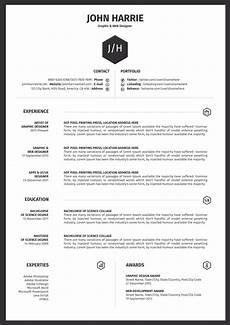 Cv Office Template 45 Free Modern Resume Cv Templates Minimalist Simple