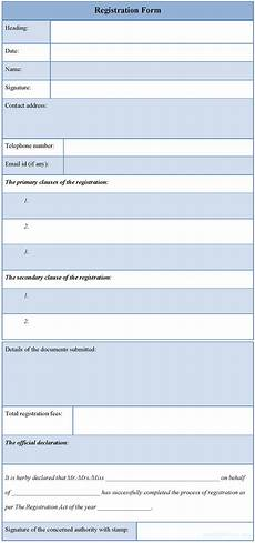 Registration Form Template In Html Registration Form Template E Commercewordpress