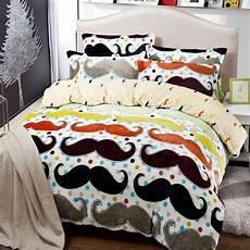 mustache bedding set quilt duvet cover king