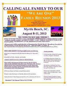 Family Reunion Flyers Templates We Are One Family Reunion