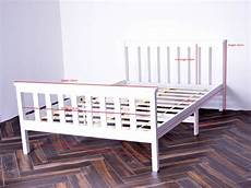 wood bed frame solid pine white 4ft and 4ft6 quot 2 sizes ebay