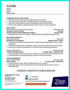 Nurses Aide Resumes Writing Certified Nursing Assistant Resume Is Simple If