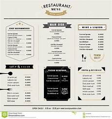 Menu Layout Restaurant Menu Design Template Layout With Icons And
