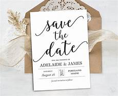 Free Downloadable Save The Date Templates Save The Date Template Printable Save The Date Card Instant