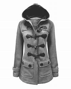 new fleece hooded jacket duffle toggle pocket