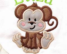 Monkey Design Cute Monkey Machine Embroidery And Applique Designs For