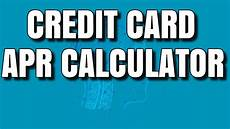 Credit Card Apr Calculator Credit Card Apr Calculator Exactly What Is Apr Youtube
