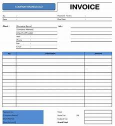 Bill Of Quantities Excel Template Excel Spreadsheet Invoice Intended For Excel Template For