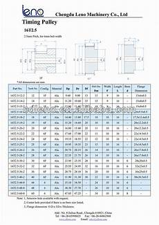 Pulley Dimension Chart 25mm Bore T2 5 Timing Pulley One Hub Two Flange Buy