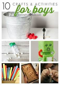 activities and crafts for boys somewhat simple