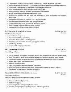 Resume Of Desktop Support Engineer Resume Desktop Support Engineer
