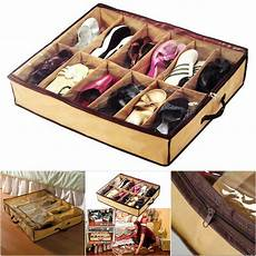 12 pair bed shoes storage space saving shoe