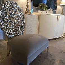 silver leaf accent chair