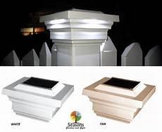 Deck Solar Light Caps 4x4 Regal Solar Post Cap Led Deck Fence Lights Tan Or