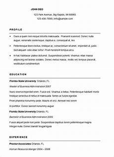 Simple Free Samples Basic Resume Samples For Free Free Downloadable Resume