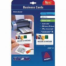 Avery Business Cards 10 Per Sheet Avery C32026 25 Business Cards 85 X 54 Mm 10 Labels Per
