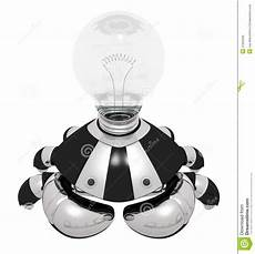 Light Robot Idea Generator Robot With Light Bulb Royalty Free Stock