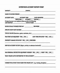 Supervisor Incident Report Free 27 Sample Accident Report Forms In Pdf