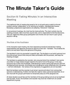 How To Keep Minutes Meeting Minutes Templates 22 Free Word Pdf Documents
