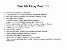 Example Essay Prompts One Paragraph Essay Prompts