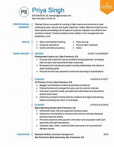 Sample Resume For 9 Best Resume Formats Of 2019 Livecareer