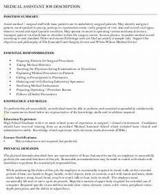 Medical Assistant Job Description For Resume Medical Assistant Resume Sample 8 Examples In Word Pdf
