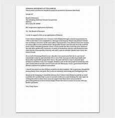 Example Of A Personal Reference Letter Personal Reference Letter 15 Free Samples Examples