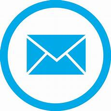 Email Contacts Blue Email Box Circle Png Transparent Icon Free