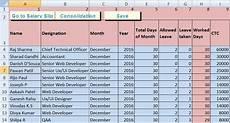Salary Worksheet Excel Download Salary Sheet Excel Template Exceldatapro