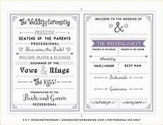 Program Word Template Free One Page Wedding Program Templates For Microsoft Word