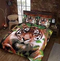 jungle tiger duvet cover set printed animal