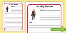 post card template twinkl letter writing frames to support teaching on the jolly postman