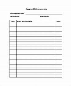 Maintenance Log Template Free Maintenance Log Template 12 Free Word Excel Pdf