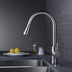 Faucets For Kitchen Sinks Wewe Single Handle High Arc Brushed Nickel Pull Out