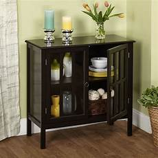 accent storage cabinet w 2 door 1 adjustable shelf wood