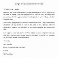 Sample Recommendation Letter For Cda Renewal 26 Employee Recommendation Letter Templates Hr