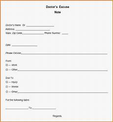 Printable Doctors Notes Free Printable Doctors Excuse For Work Template Business