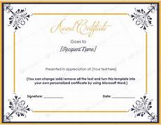 Awards Template Word Award Certificate 14 Word Layouts