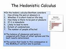 Hedonistic Calculus Ppt Utilitarianism Powerpoint Presentation Id 2174098