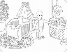 Ausmalbild Playmobil Krankenhaus Babyzimmer