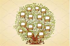 Family Tree Pics Template Family Tree Template Illustrations Creative Market