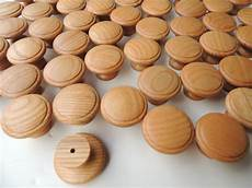 25 new light ash wood drawer knobs with finish