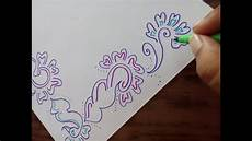 How To Make Chart Paper Decoration How To Decorate Border Of File Paper Chart Or Cards