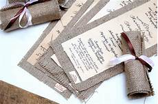 Burlap Wedding Invitations Wedding Invitations Vintage Burlap Invitations Rolling
