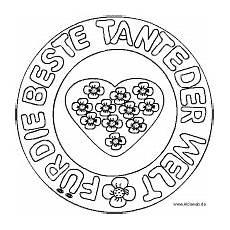 Ausmalbilder Geburtstag Tante Gl 252 Ckwunsch Danke Und Entschuldigung Mandalas
