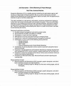 Advertising Executive Job Description 14 Sample Manager Job Description Templates Pdf Doc