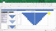 Excel Funnel Chart Create Funnel Chart In Excel 2019 Youtube
